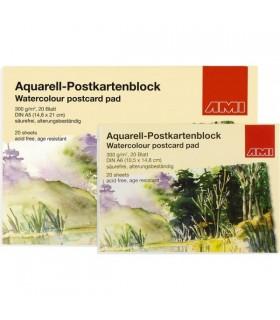 Akvarel razglednice A6 | 300 g/m² | 20 Listov