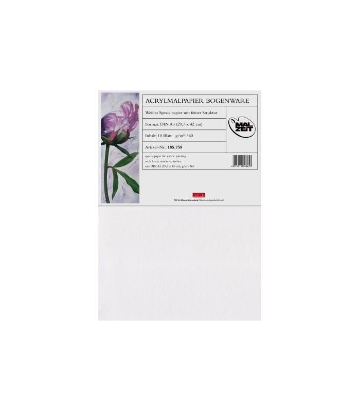 Akril papir | 360 g/m2 | 42×59.4 cm | fini | Pak 10 Kom