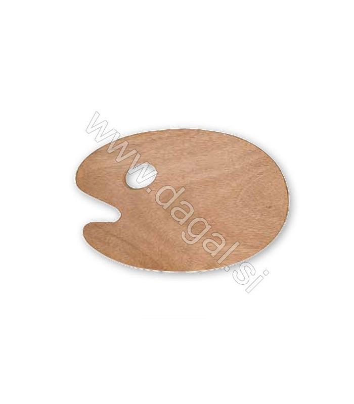 Lesena paleta ovalna 27×41 cm