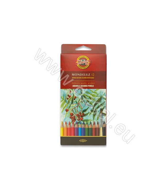 Akvarelne barvice v svinčniku Koh-I-Noor MONDELUZ | 12 Kom