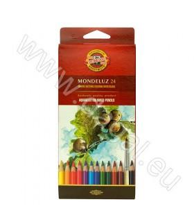 Akvarelne barvice v svinčniku Koh-I-Noor MONDELUZ | 24 Kom