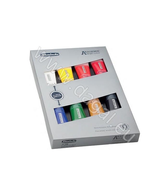 Schmincke AKADEMIE | Komplet akrilnih barv 8 × 120 ml