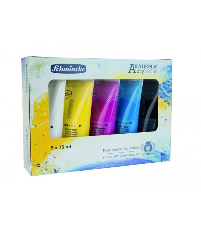 Schmincke AKADEMIE | Komplet akrilnih barv 5 x 75 ml