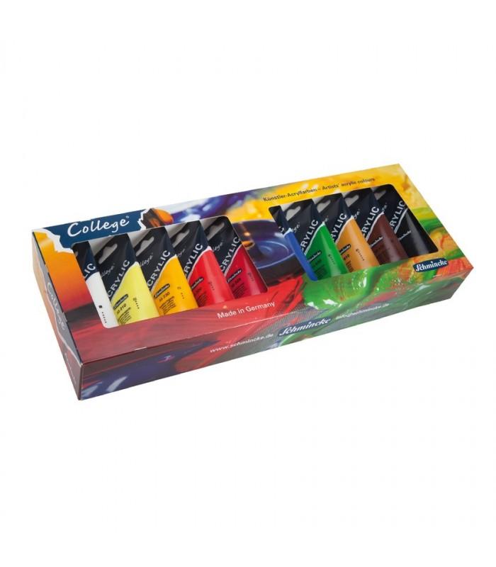 Komplet akrilnih barv Schmincke College 10×75 ml
