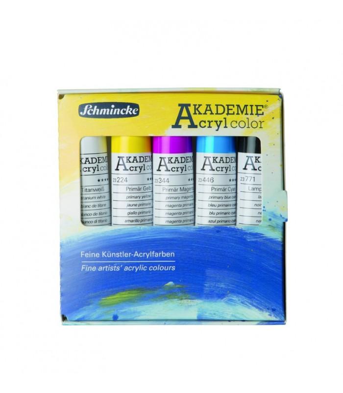 Schmincke AKADEMIE | Komplet osnovnih akrilnih barv 5 x 20 ml