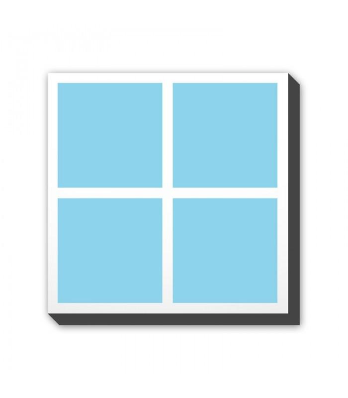Foto-kolaž na platnu - kvadrat - postavitev A