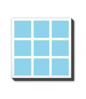 Foto-kolaž na platnu - kvadrat - postavitev C