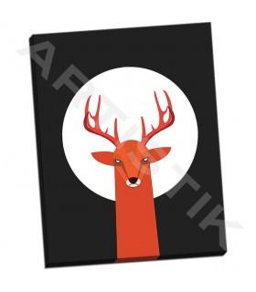 Deer and Moon - Dalyan, Volkan