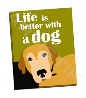 Life is Better with a Dog - Oliphant, Ginger