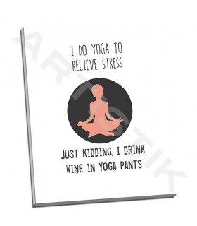 Wine and Yoga - Weiss, Jan