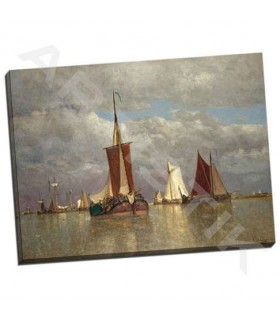 Ships lying near Dordrecht - Clays, Paul Jean