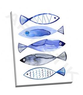 Retro Watercolour Fish - Berg, Margaret