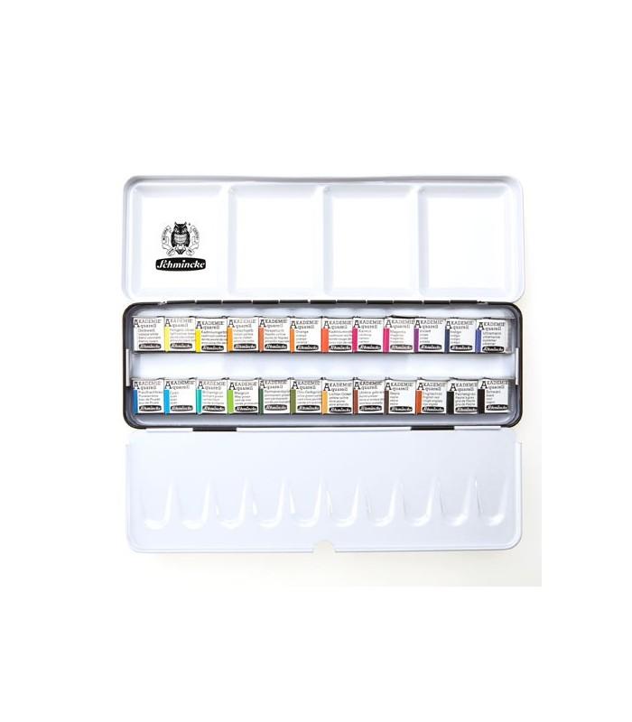 Komplet akvarelnih barv Schmincke Akademie 24 × 1/2