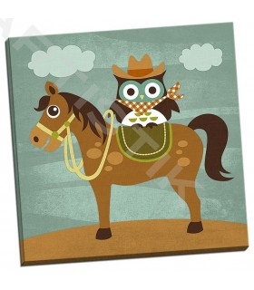 Cowboy Owl on Horse - Lee, Nancy