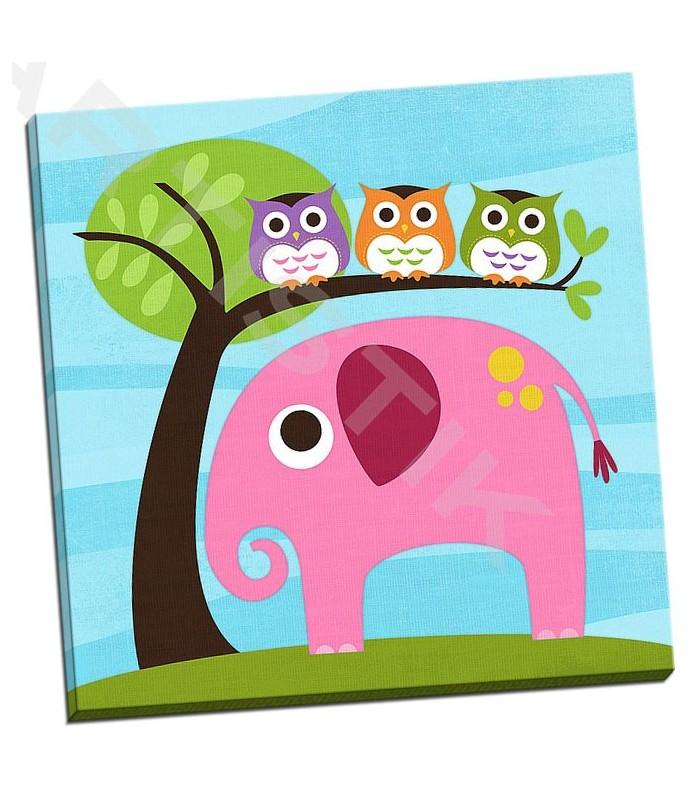 Elephant with Three Owls - Lee, Nancy