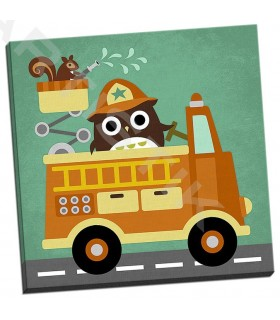 Owl in Firetruck and Squirrel - Lee, Nancy