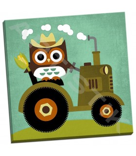 Owl on Tractor - Lee, Nancy